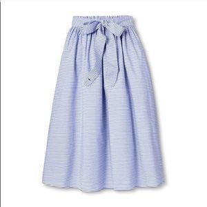 NWT Vineyard Vines for Target Striped Midi Skirt